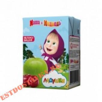 """Купить Нектар """"Маша И Медведь"""" Ладушки Яблоко-вишня осветленный с 5 месяцев 0,2л"""
