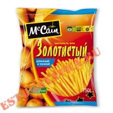 """Картофель """"Mccain"""" фри золотистый, длинный и тонкий 750г"""