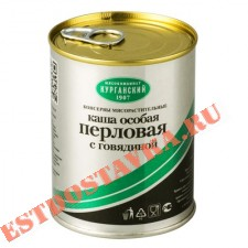 """Каша """"Особая"""" перловая с говядиной 340г"""
