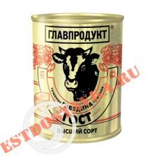 """Говядина """"Главпродукт"""" тушеная Высший Сорт 338г"""