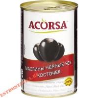 """Маслины """"Acorsa"""" черные без косточек 300г"""