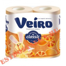 "Бумага туалетная ""Linia Veiro"" Classic желтая 2 слоя 4шт"