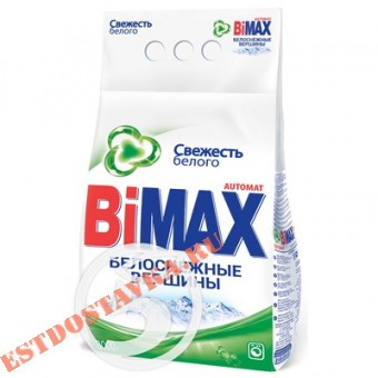 """Купить Порошок """"Bimax"""" стиральный Белоснежные Вершины автомат 3кг"""