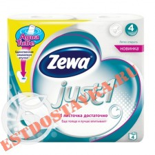 "Бумага туалетная ""Zewa"" Just.1 4 слоя 4шт"