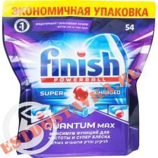 """Средство для посудомоечной машины """"Finish"""" Powerball Quatium Max 54шт"""