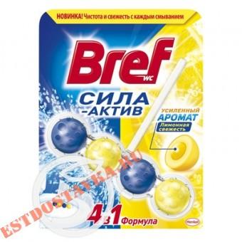 """Купить Средств чистящее """"Bref"""" для унитаза Сила-Актив Лимонная Свежесть 50г"""