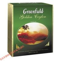 """Чай """"Greenfield"""" Golden Ceylon black 100шт*2г"""