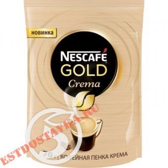 """Купить Кофе """"Nescafe"""" Gold Crema растворимый порошкообразный 70г"""