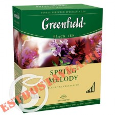 """Чай """"Greenfield"""" Spring Melodi черный 100пак*1,5г"""