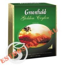 """Чай """"Greenfield"""" Golden Ceylon черный 100пак"""