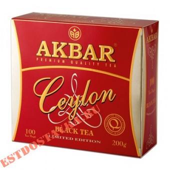 """Купить Чай """"Akbar"""" Ceylon черный 100шт*2г"""