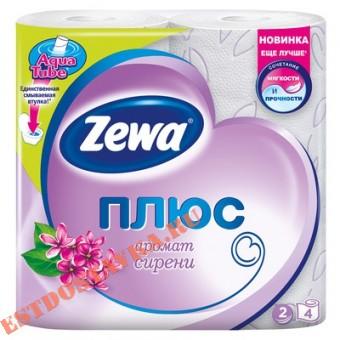 """Купить Бумага """"Zewa"""" туалетная Плюс сирень 2-х слойная 4шт"""