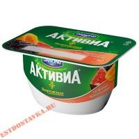"""Биопродукт творожный """"Активиа"""" черника, курага, инжир 130г"""