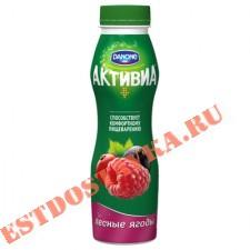 """Биойогурт """"Активиа"""" обогащенный бифидобактериями ActiRegularis лесные ягоды 2,1% 290г"""