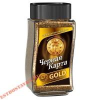 """Kофе """"Черная Карта"""" расстворимый Gold 190г"""