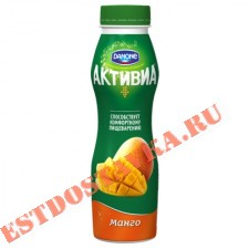 """Биойогурт """"Активиа"""" обогащенный бифидобактериями ActiRegularis манго яблоко 2% 290г"""