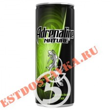 """Напиток """"Adrenalin""""e Nature энергетический 250мл"""