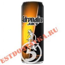 """Напиток """"Adrenalin""""e Juicy энергетический Апельсиновая энергия 500мл"""