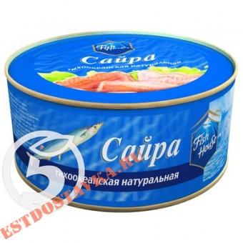 "Купить Сайра ""Fish House"" тихоокеанская натуральная 240г"