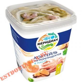"""Купить Коктейль """"Меридиан"""" из морепродуктов в масле 415г"""