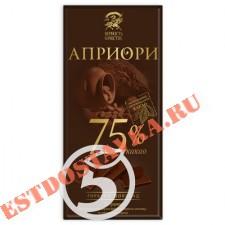 """Шоколад """"Априори"""" 75% какао горький 72г"""