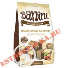 """Вафли """"Banini"""" Кубики с начинкой с лесным орехом 250г"""