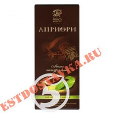 """Шоколад """"Априори"""" горький с натуральной мятой 72г"""