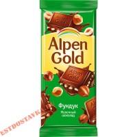"""Шоколад """"Alpen Gold"""" молочный с фундуком 90г"""