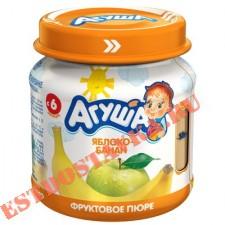 """Пюре """"Агуша"""" Яблоко-Банан фруктовое 0% 115г"""