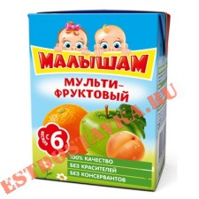 "Нектар ""Фрутоняня"" Малышам мультифрукт 0,2л"