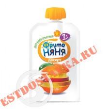 """Десерт """"Фрутоняня"""" из яблок, банана, апельсина, манго для детского питания 90г"""