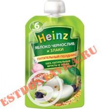 """Пюре """"Heinz"""" яблоко, чернослив и злаки 90г"""