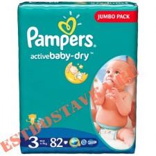 """Подгузники """"Pampers"""" Active Baby Midi (5-9кг) 82шт"""