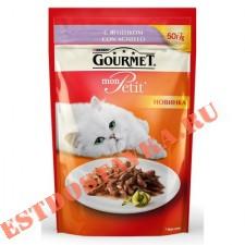 """Корм """"Gourmet"""" Mon Petit консервированный для взрослых кошек с ягненком 50г"""