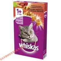 """Корм """"Whiskas"""" Вкусные Подушечки паштет говядина-кролик, для взрослых кошек 350г"""