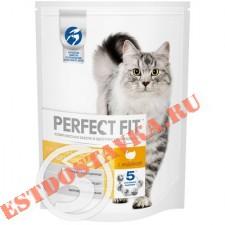 """Корм """"Perfect Fit"""" с индейкой для кошек с чувствительным пищеварением 650г"""