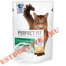 "Корм ""Perfect Fit"" In-Home рагу с курицей для стерилизованных кошек 85г"
