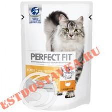"""Корм """"Perfect Fit"""" с индейкой для кошек с чувствительным пищеварением 85г"""