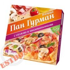 """Пицца """"Пан Гурман"""" с салями и шампиньонами 275г"""