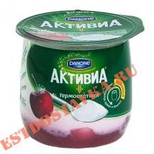 """Биойогурт """"Активиа"""" с вишней, термостатный, 2,7% 170г"""