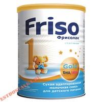 Молочная смесь Friso Gold 1 с пребиотиками для детей с 0 до 6 месяцев 400г
