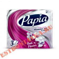 "Бумага ""Papia"" туалетная Балийский Цветок 3 слоя 4шт"