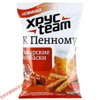 """Сухарики """"Хрусteam"""" К Пенному со вкусом Баварские колбаски 90г"""