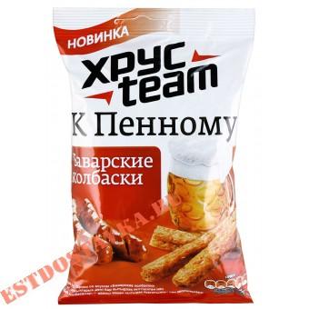 """Купить Сухарики """"Хрусteam"""" К Пенному со вкусом Баварские колбаски 90г"""