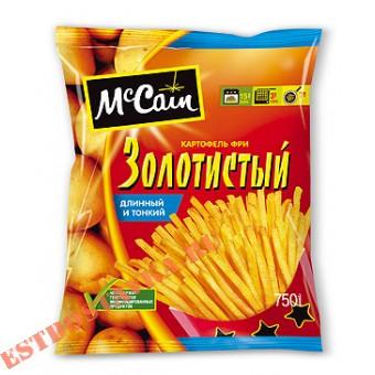 """Купить Картофель """"Mccain"""" фри золотистый, длинный и тонкий 750г"""