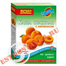 """Каша """"Ясно Солнышко"""" овсяная с абрикосом 270г"""