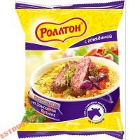 """Вермишель """"Роллтон"""" говядина на домашнем бульоне быстрого приготовления 60г"""
