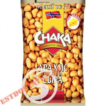"""Купить Арахис """"Chaka"""" обжаренный со вкусом сыра Чеддер 130г"""