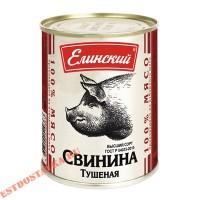 """Свинина """"Елинский"""" тушеная Гост ж/б 338г"""