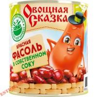 """Фасоль """"Овощная Сказка"""" в собственном соку 310г"""